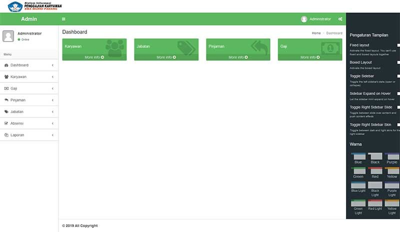 Web aplikasi Pengolahan gaji karyawan sekolah dengan codeigniter
