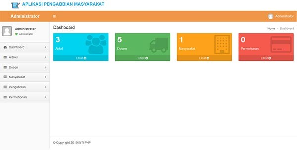 project php mysql pengabdian masyarakat