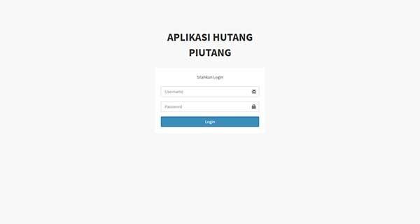 Aplikasi pengolahan piutang pada toko
