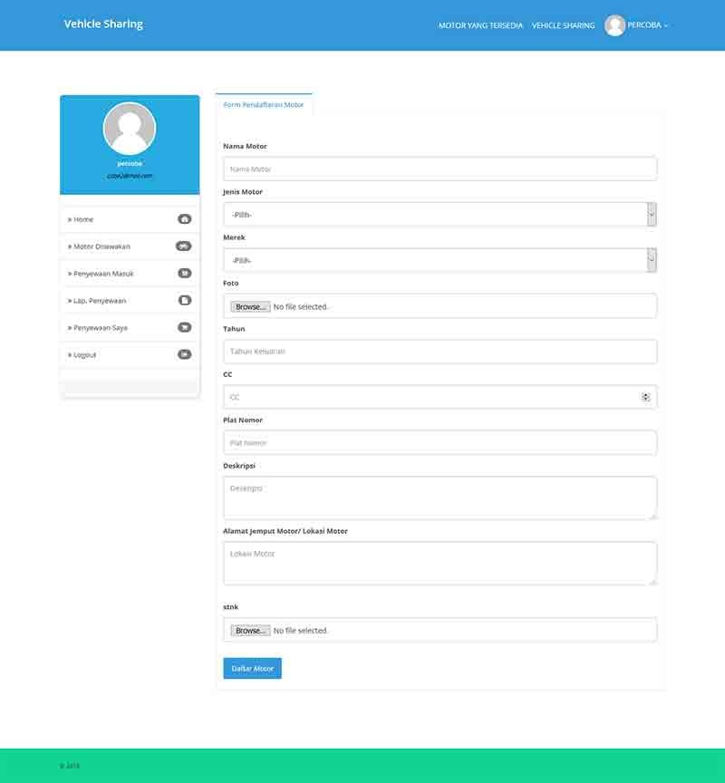 Aplikasi berbasis web penyewaan motor dengan php mysqli 3