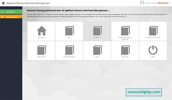 Aplikasi Manajemen Kepegawaian Php Mysql