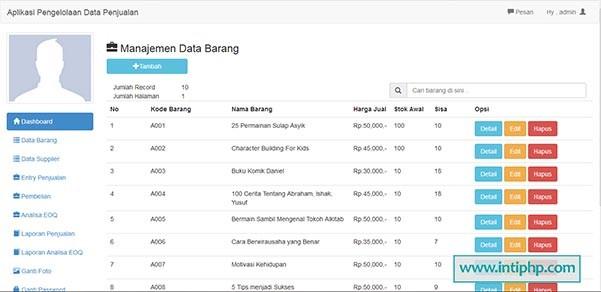 Aplikasi Manajemen Penjualan Toko Berbasis Web