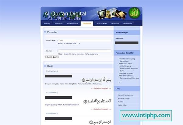 Project Aplikasi Alquran Online Php Mysql
