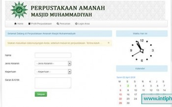 Project Aplikasi Perpustakaan Masjid Gratis
