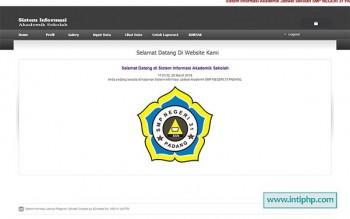 Sistem Informasi Akademik Sekolah Php Mysql