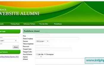 Project Website Alumni Php Dan Mysql Gratis