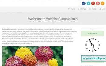 Website Promosi Budidaya Bunga Php Mysql Gratis