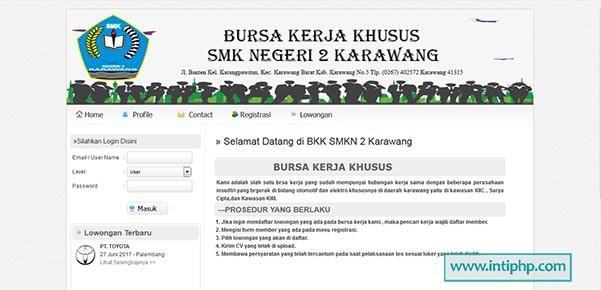 Download Gratis Website Bursa Kerja Php Mysql