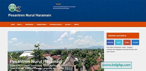 Website Profil Pesantren Php Mysql Gratis