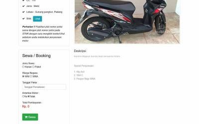 Aplikasi Berbasis Web Penyewaan Motor Dengan Php Mysqli