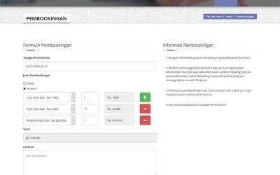 Sistem Informasi Pembookingan Studio Foto Samsara Berbasis Codeigniter Terbaru