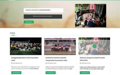 Web Organisasi Kemahasiswaan Native Sederhana Php